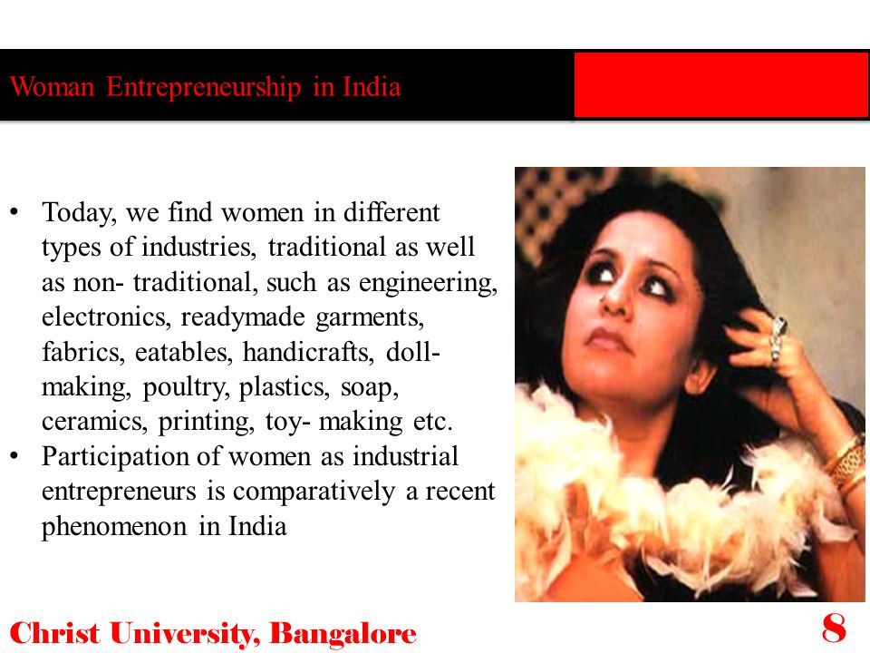 8 Woman Entrepreneurship in India