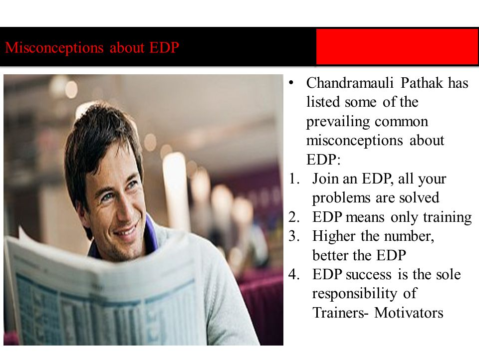 Misconceptions about EDP