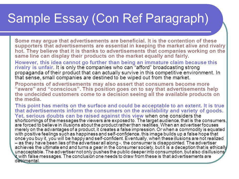 Sample Essay (Con Ref Paragraph)