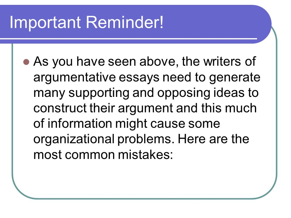 argumentative essay ppt  43 important reminder