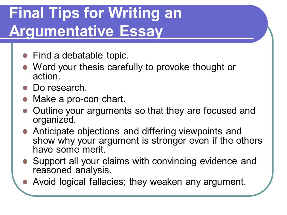 techniques for writing an argumentative essay By far, the best way to learn how to write speeches is to read the great ones,  a  profession that values the ability to make a logical argument.