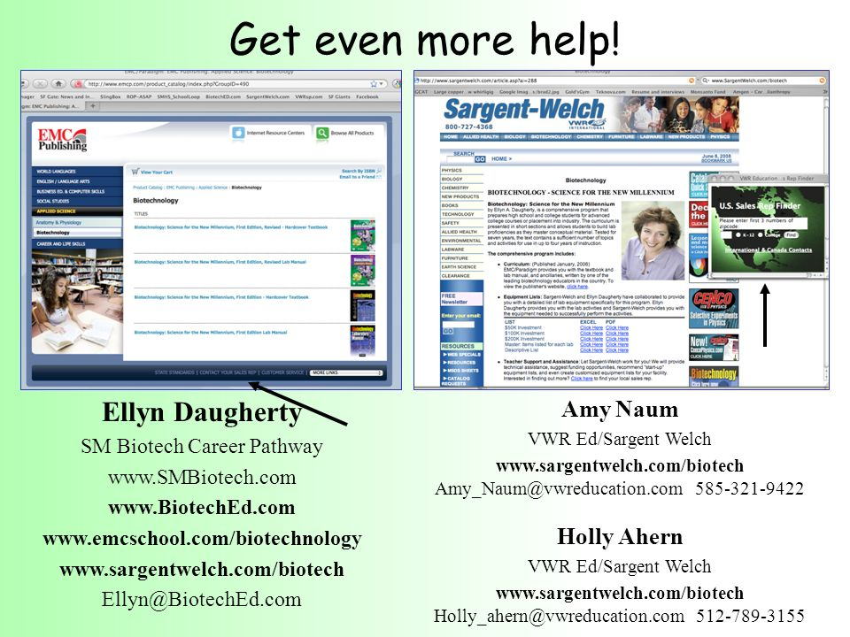 Get even more help! Ellyn Daugherty Amy Naum Holly Ahern
