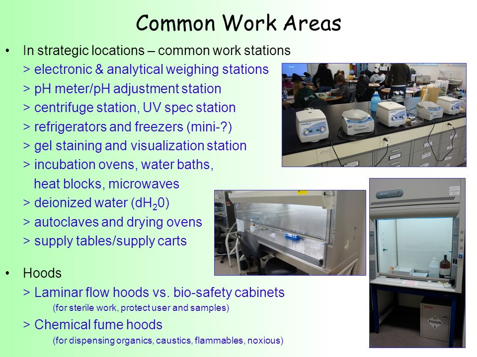 Common Work Areas In strategic locations – common work stations