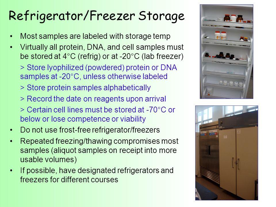 Refrigerator/Freezer Storage