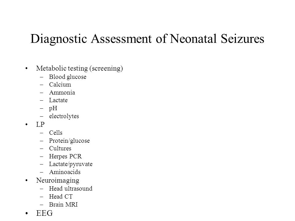 Diagnostic Assessment of Neonatal Seizures