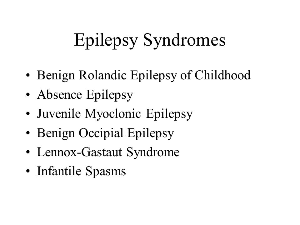 Epilepsy Syndromes Benign Rolandic Epilepsy of Childhood