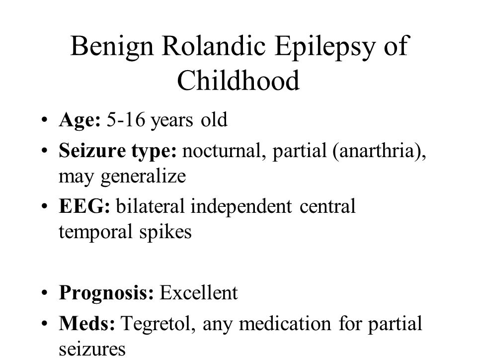 Benign Rolandic Epilepsy of Childhood