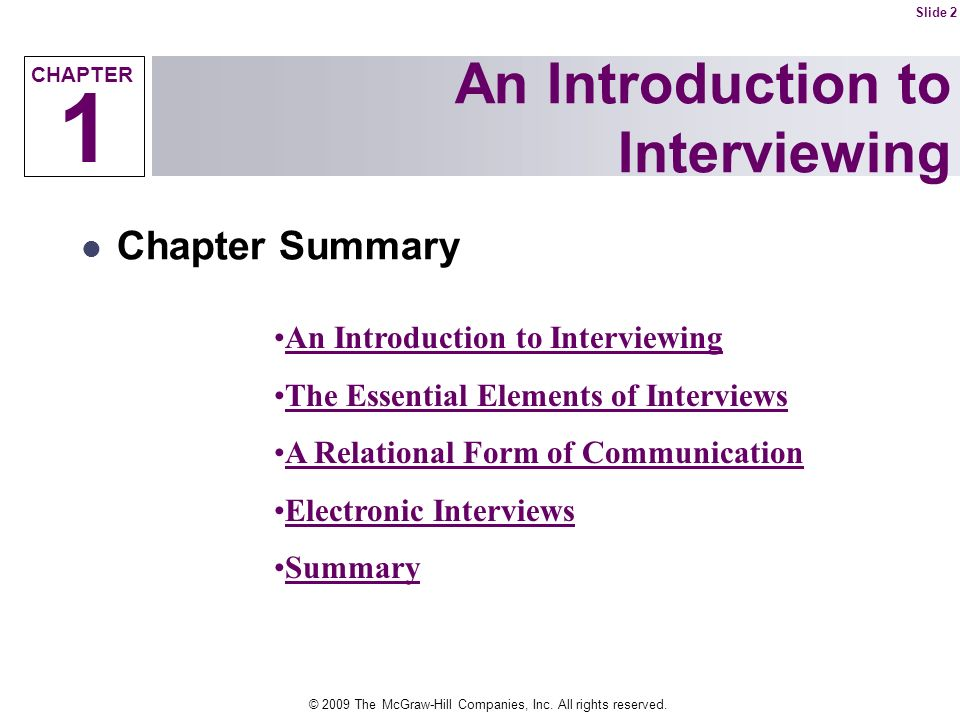 An Introduction to Interviewing