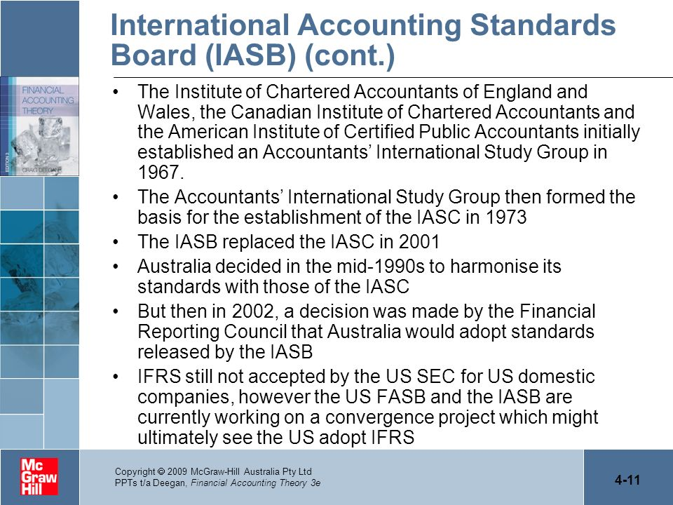 International Accounting Standards Board (IASB) (cont.)