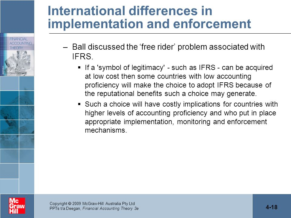 International differences in implementation and enforcement