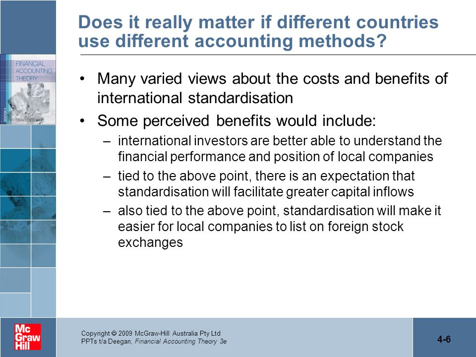 Does it really matter if different countries use different accounting methods