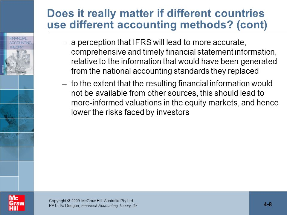 Does it really matter if different countries use different accounting methods (cont)