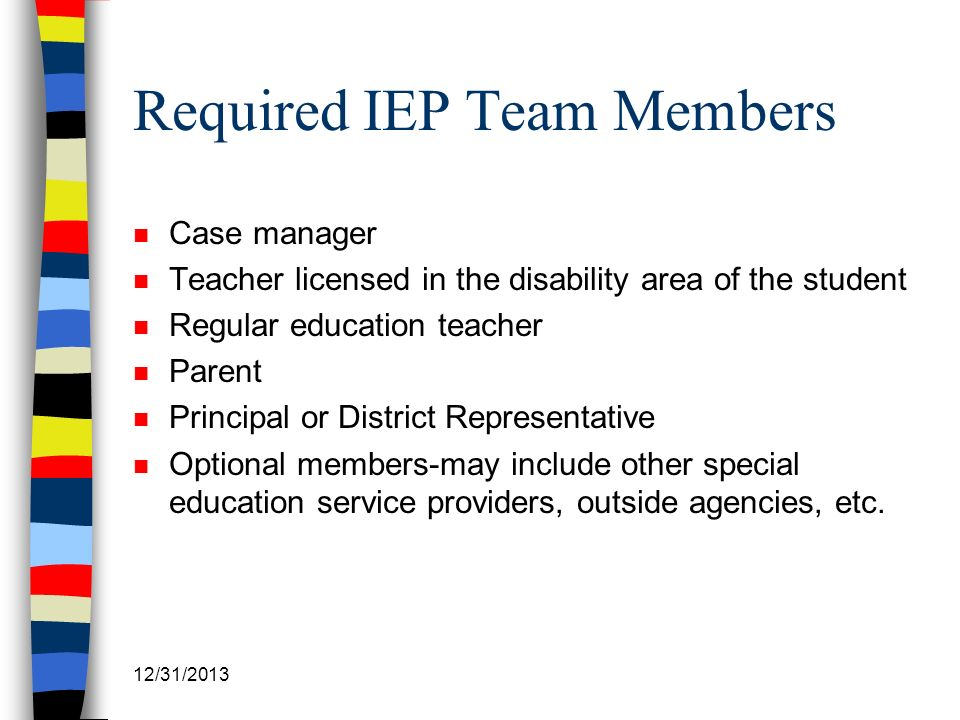 Required IEP Team Members