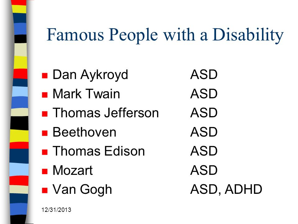 Famous People with a Disability