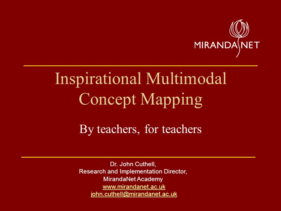Inspirational Multimodal Concept Mapping