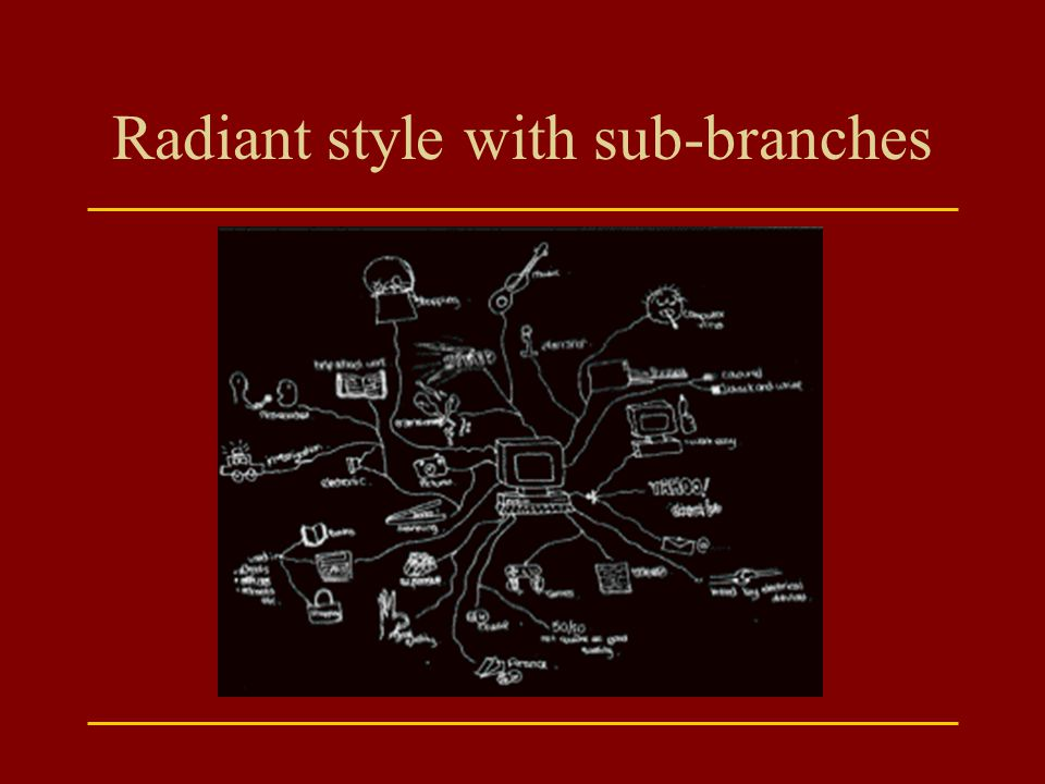 Radiant style with sub-branches