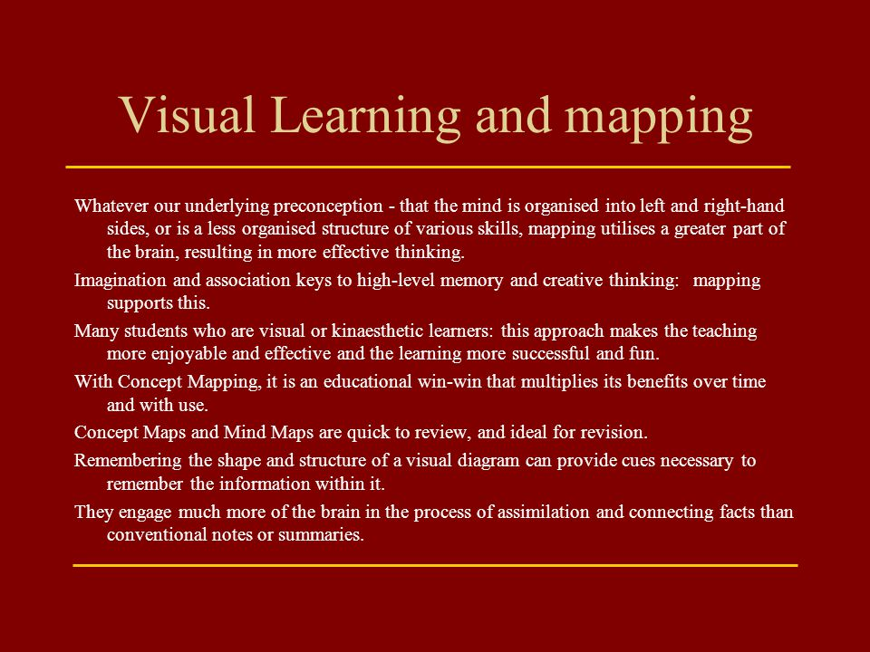 Visual Learning and mapping
