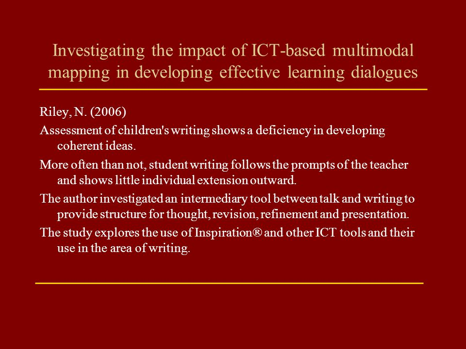 Investigating the impact of ICT-based multimodal mapping in developing effective learning dialogues