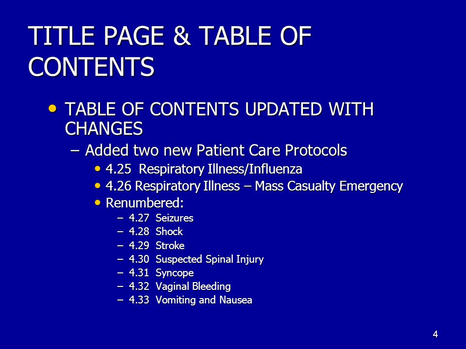 TITLE PAGE & TABLE OF CONTENTS