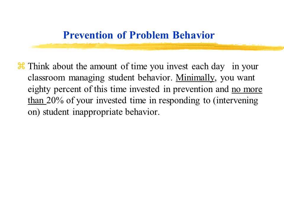 Prevention of Problem Behavior