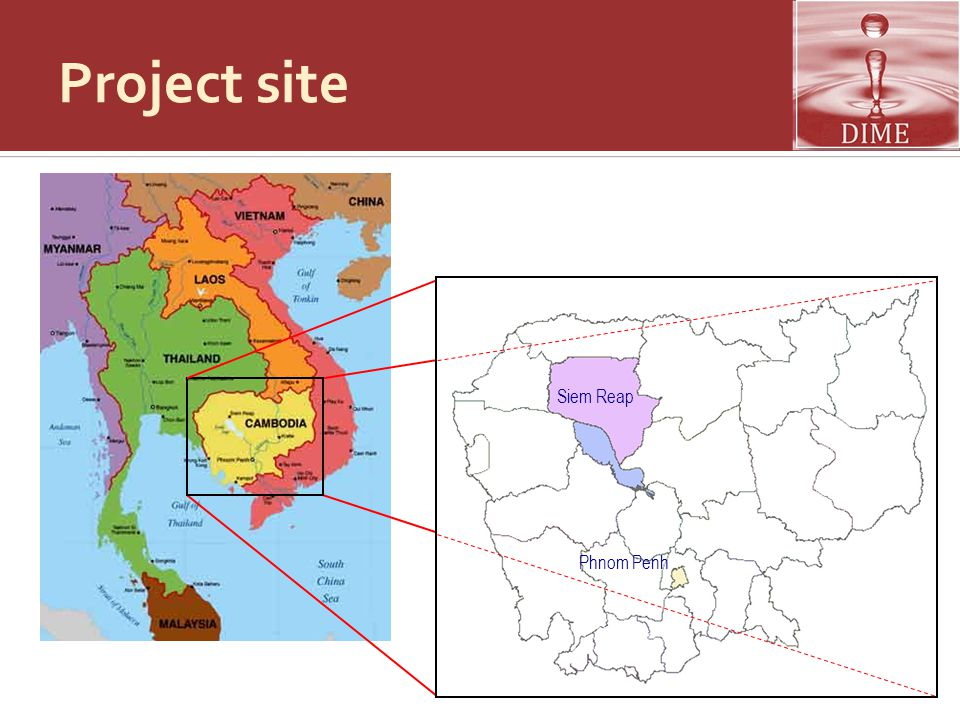 Project site Siem Reap Phnom Penh