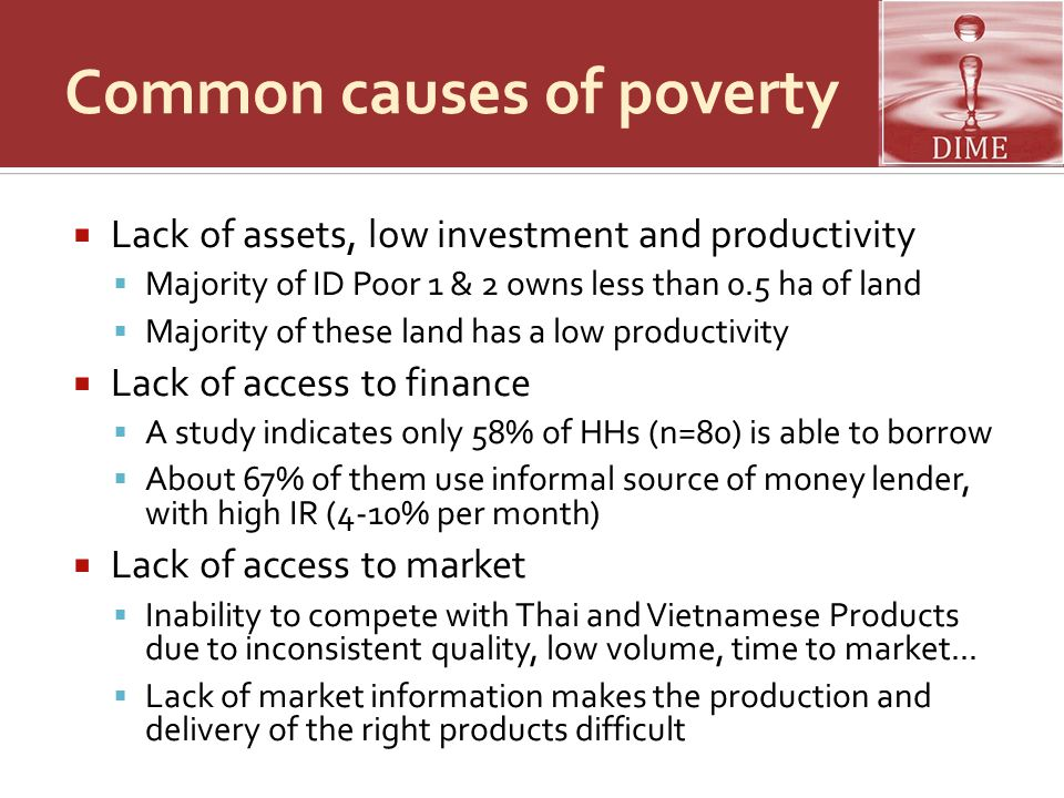 Common causes of poverty