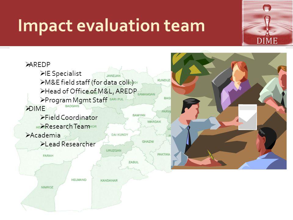 Impact evaluation team