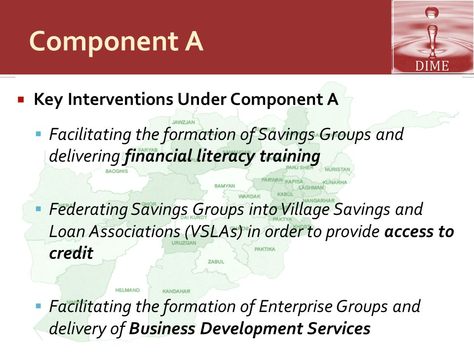 Component A Key Interventions Under Component A