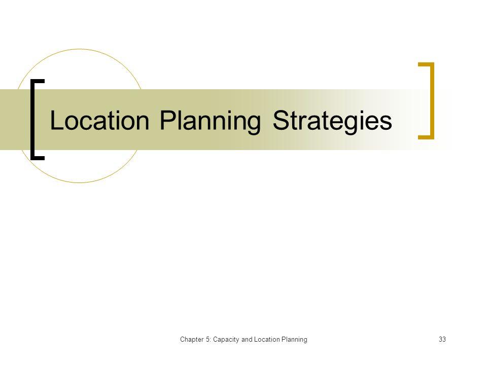 Location Planning Strategies