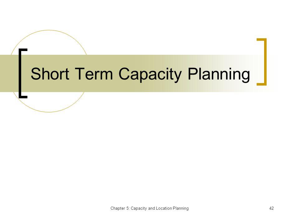 Short Term Capacity Planning