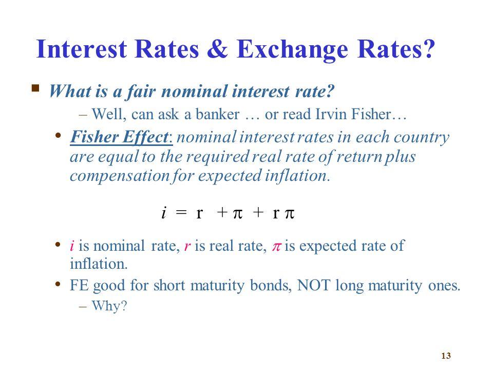 Interest Rates & Exchange Rates