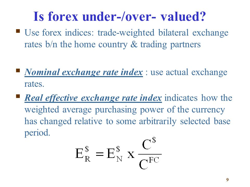 Is forex under-/over- valued