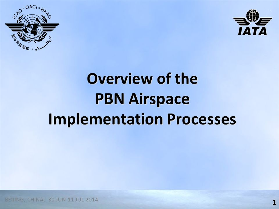 Overview of the PBN Airspace Implementation Processes
