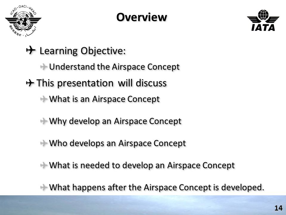 Overview Learning Objective: This presentation will discuss