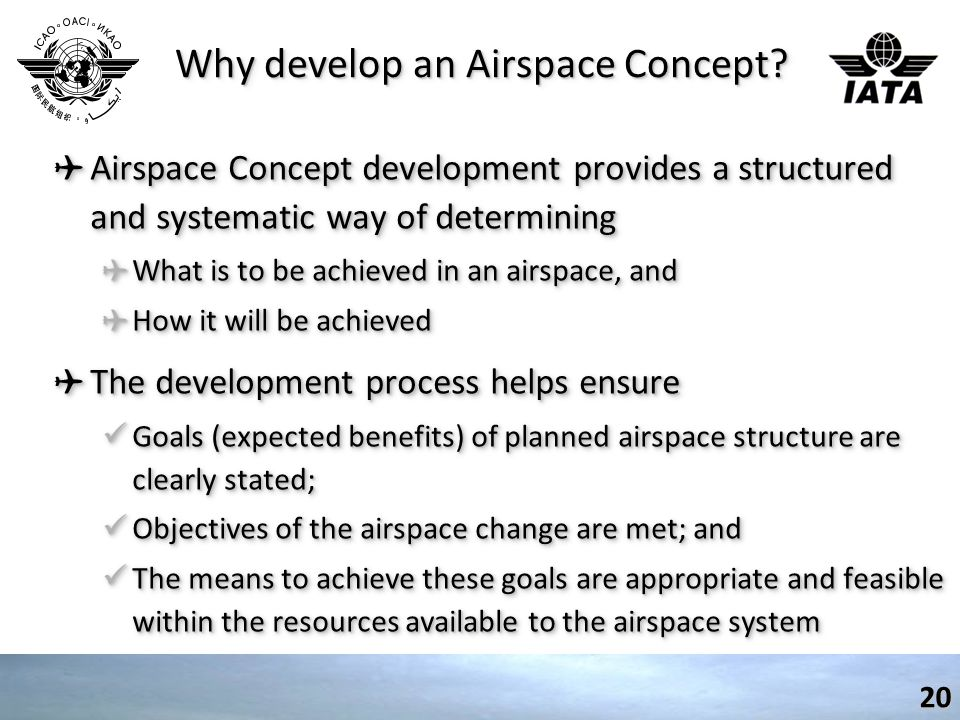 Why develop an Airspace Concept