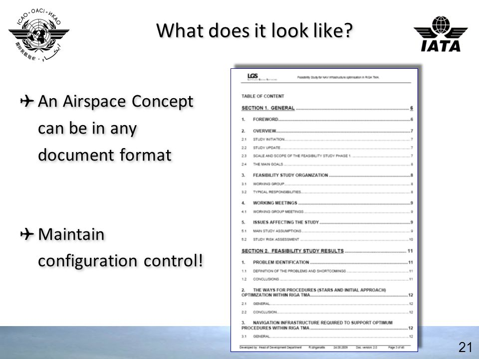 What does it look like. An Airspace Concept can be in any document format.