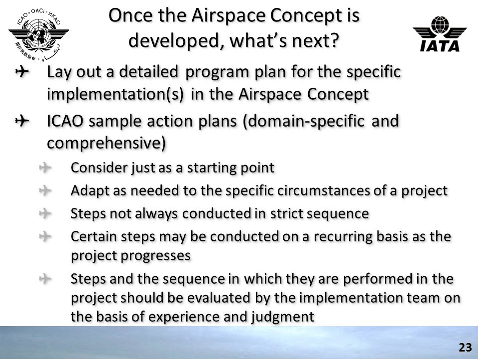 Once the Airspace Concept is developed, what's next