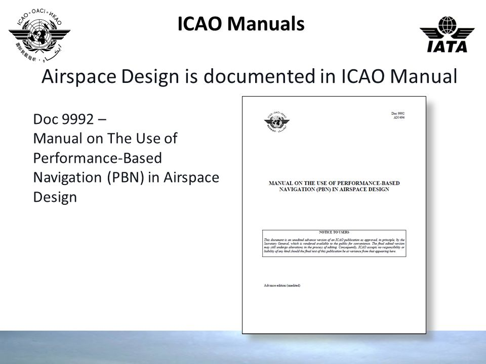 Airspace Design is documented in ICAO Manual