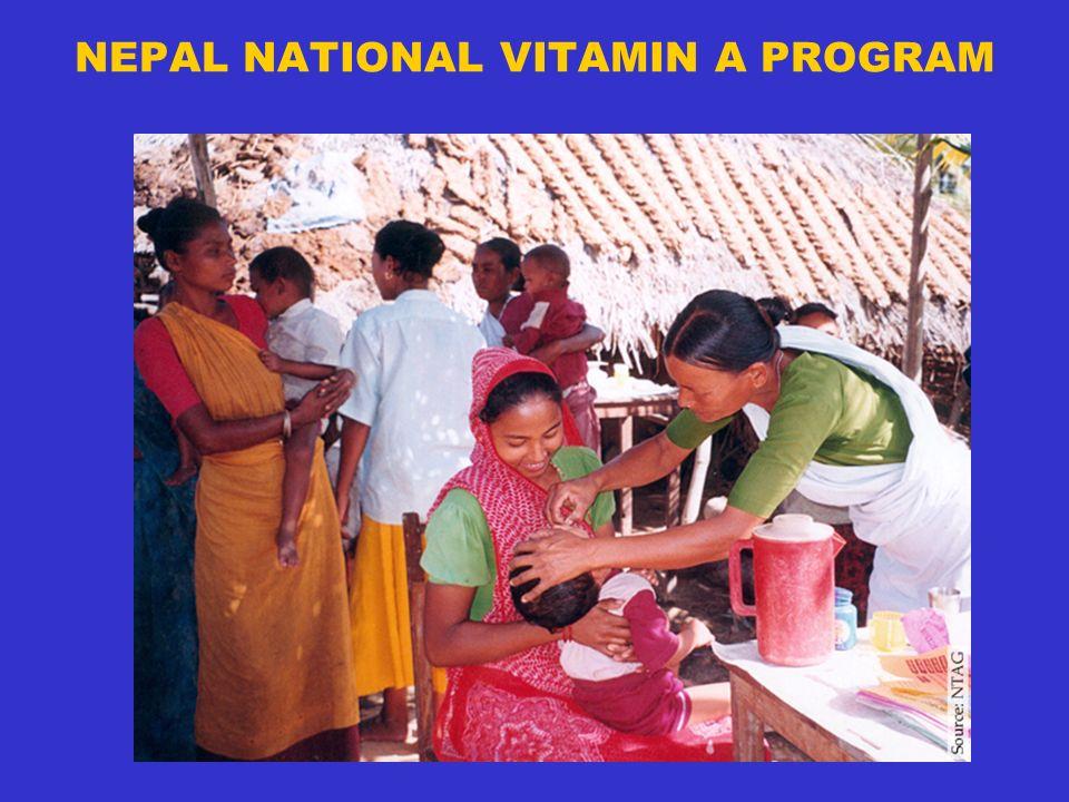 NEPAL NATIONAL VITAMIN A PROGRAM