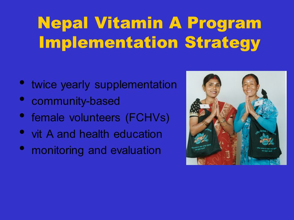 Nepal Vitamin A Program Implementation Strategy