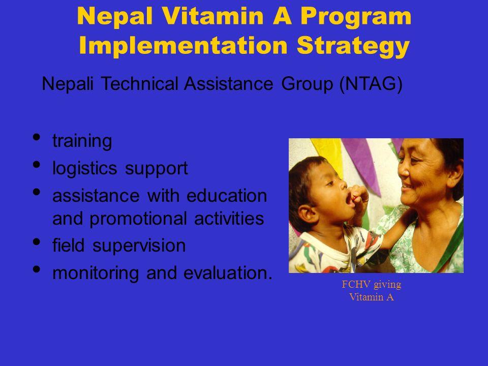 Nepal Vitamin A Program Implementation Strategy