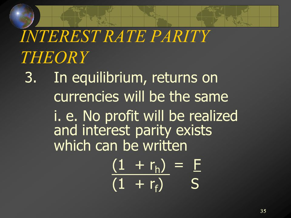 Covered Interest Rate Parity (CIRP)