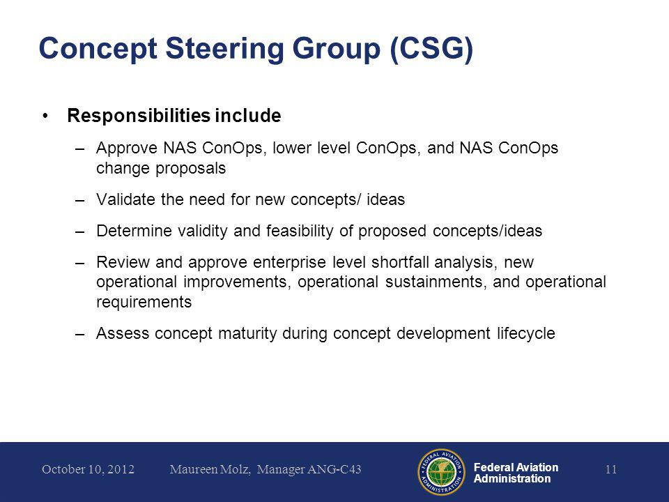 Concept Steering Group (CSG)