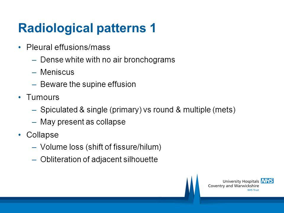 Radiological patterns 1