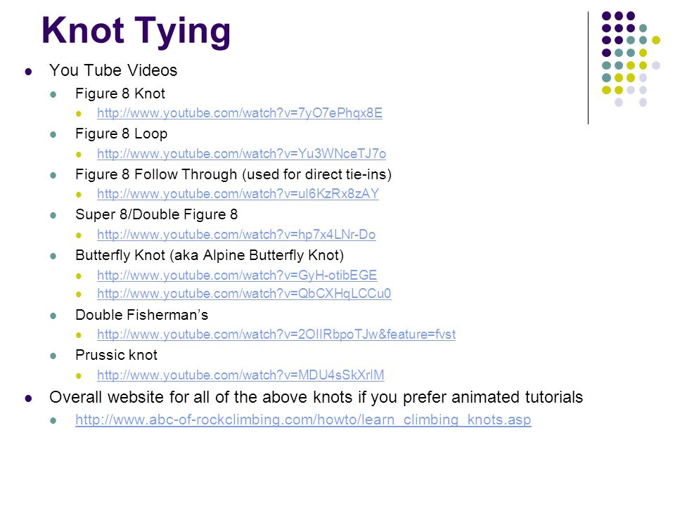 Knot Tying You Tube Videos