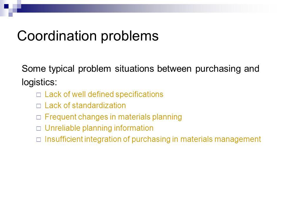 Coordination problems