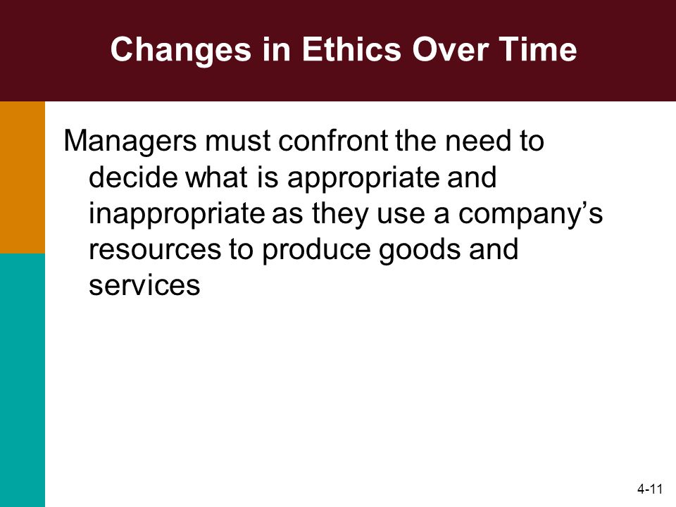 Changes in Ethics Over Time
