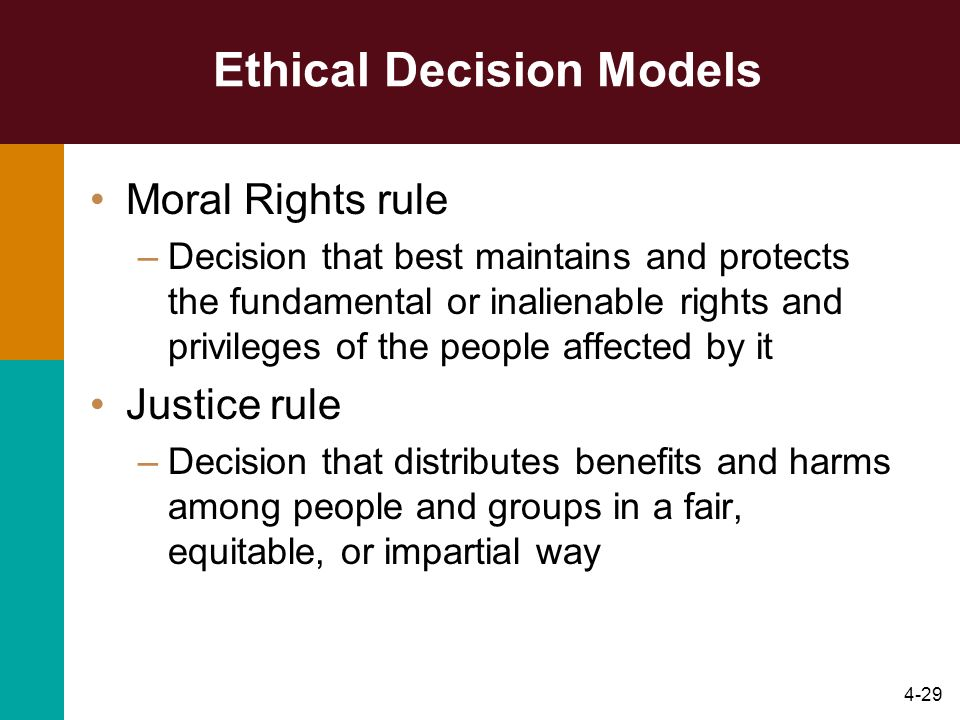 Ethical Decision Models