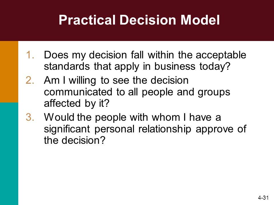 Practical Decision Model
