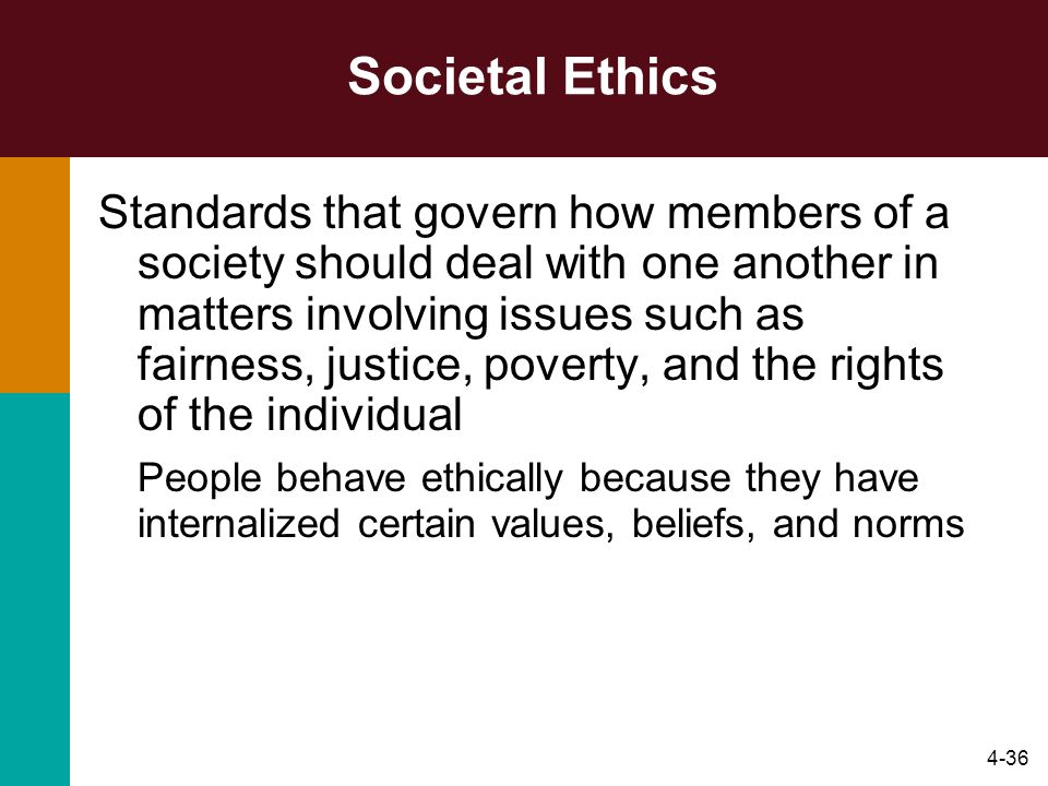 Societal Ethics